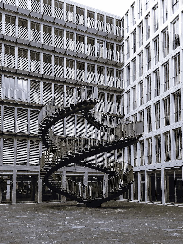 Endless staircase, munich, KPMG