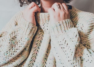 woman in white knit sweater