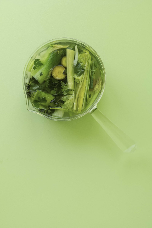 green vegetable in stainless steel bowl
