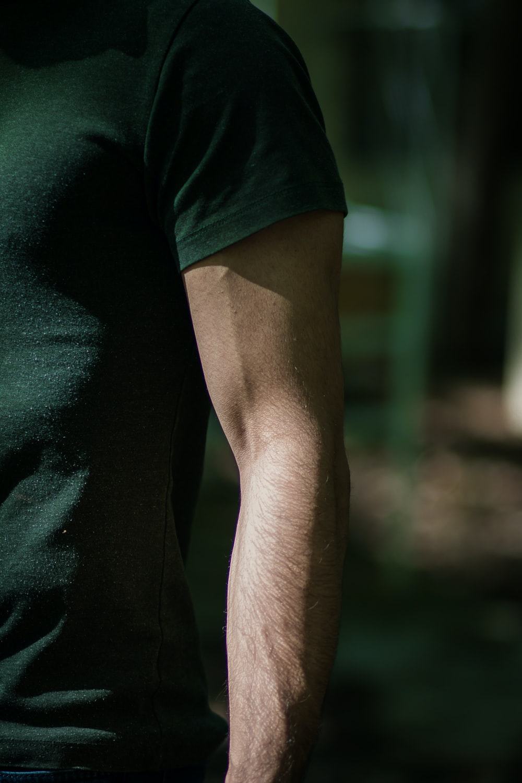 man in green t-shirt