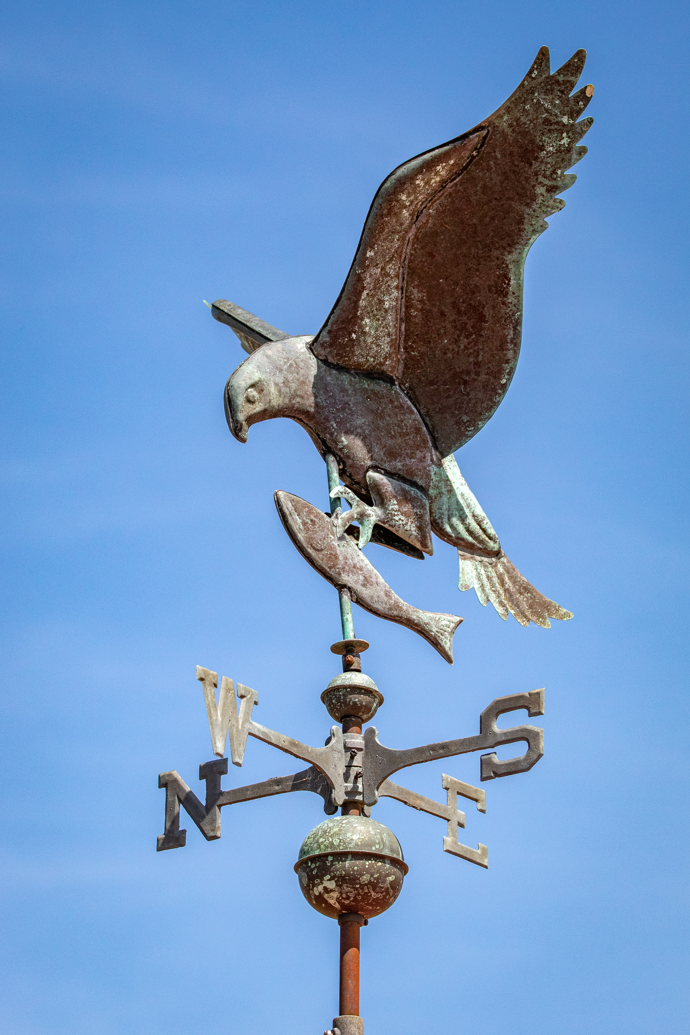 A weather vane on top of a pavilion at the Hatchie National Wildlife Refuge.