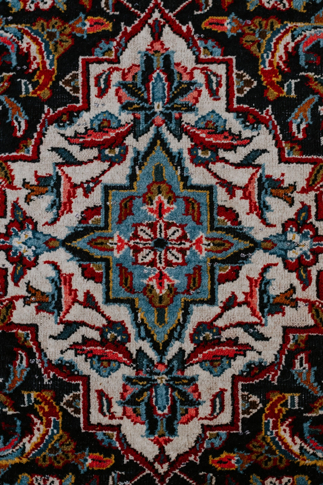 Pattern of handmade Persian carpet