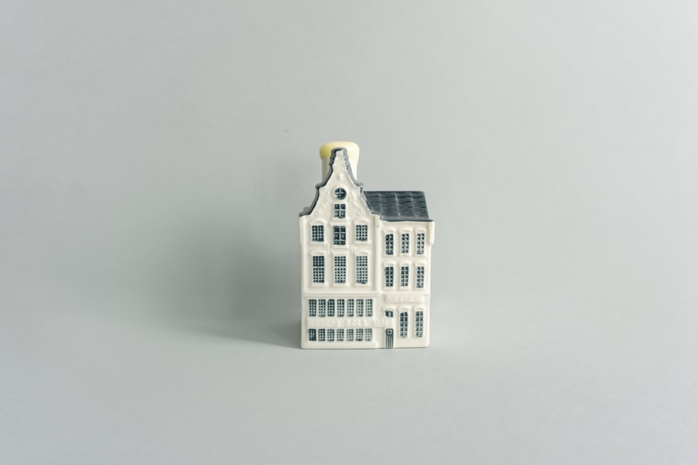 white and black house miniature