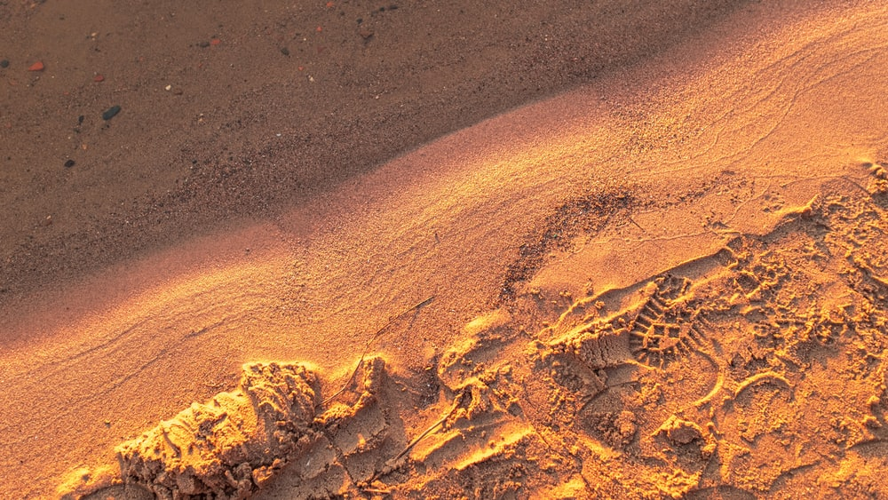 brown sand with brown sand