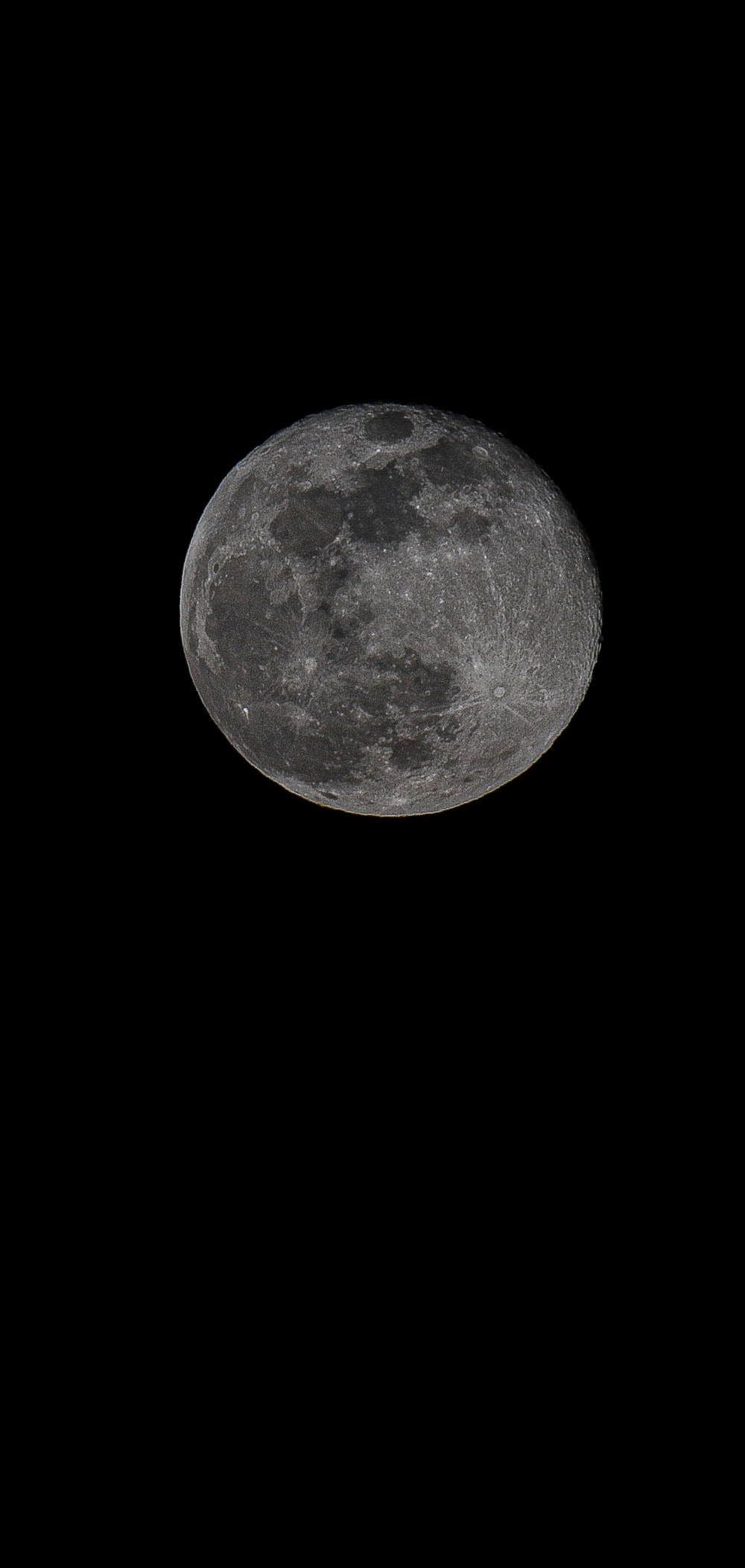 full moon in dark background