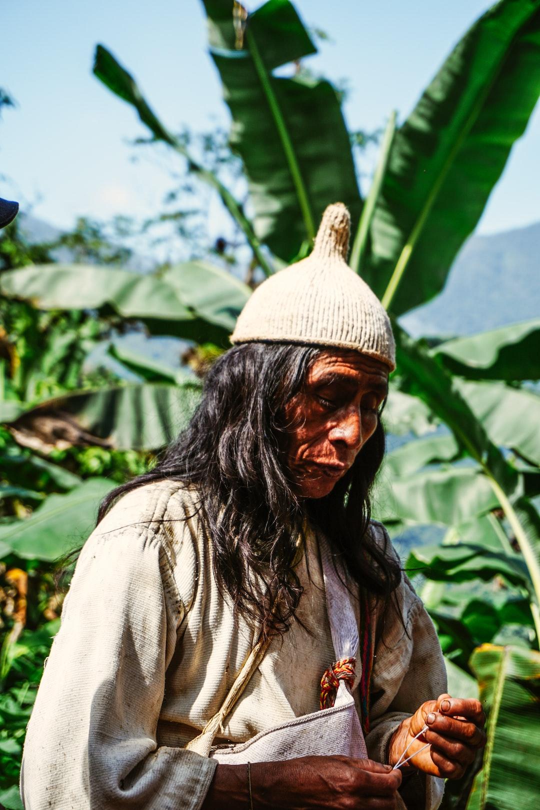 "Spiritual leader ""Mamo"" of the Kogui indigenous peole at the Lost City, Sierra Nevada de Santa Marta, Colombia"