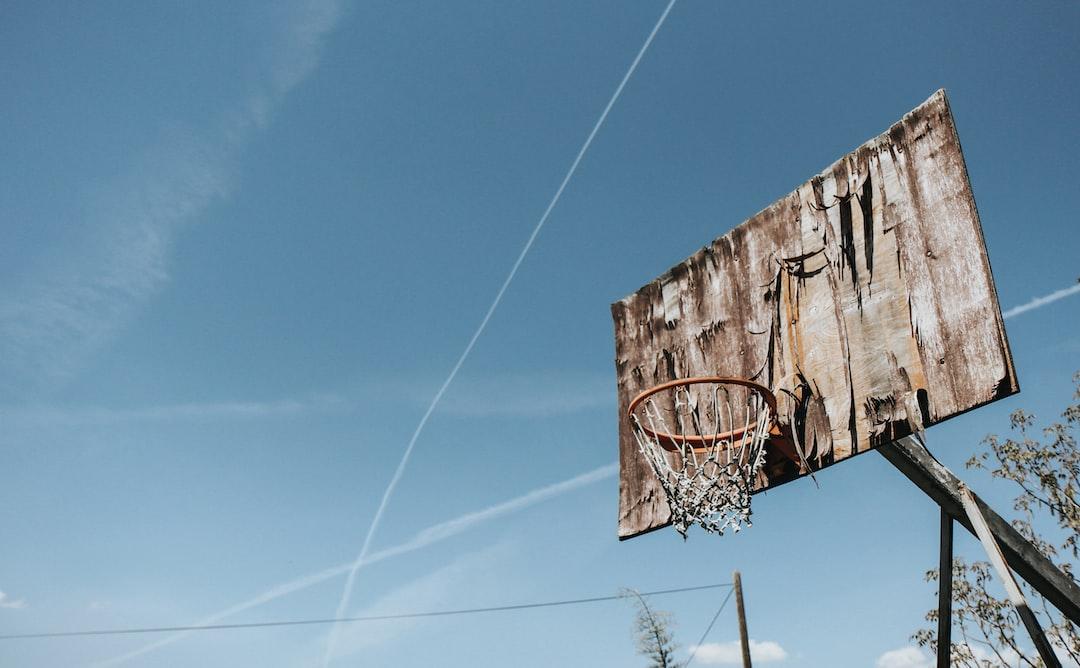 An abandoned basketball hoop