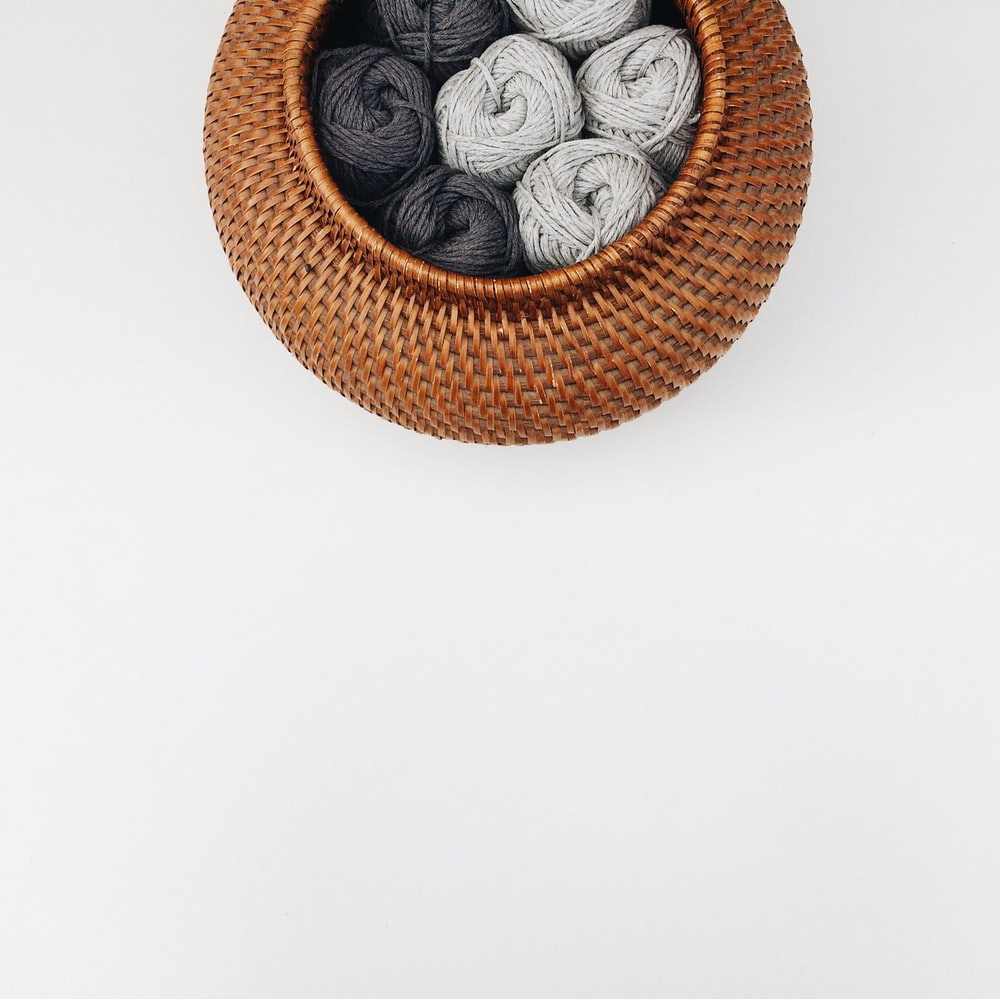 brown wooden round wall decor