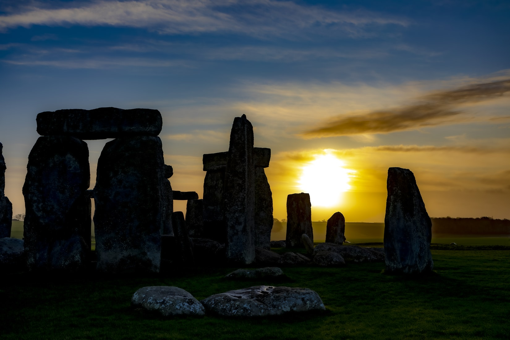 pagan monuments often lined up with the sunrise on the winter solstice