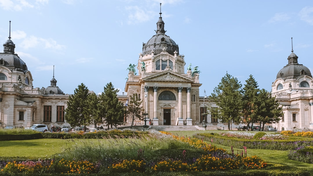 Famous Széchenyi Medicinal Bath - view from Entrance