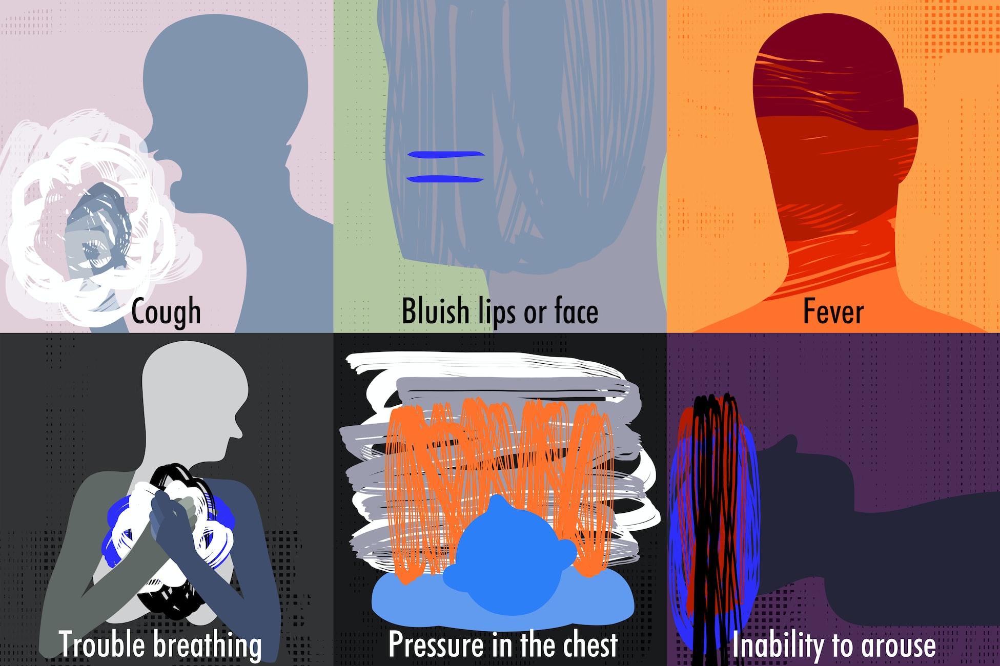 Know the symptoms. Ilustración de Lu Cheung