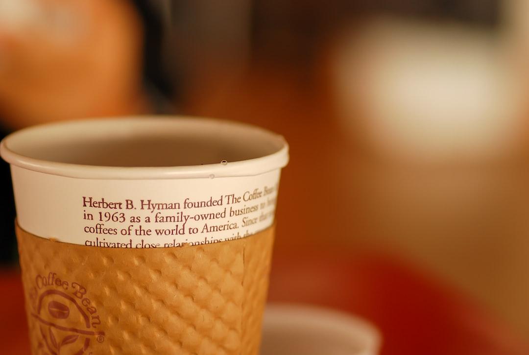 Coffee cup - Coffee Bean & Tea Leaf
