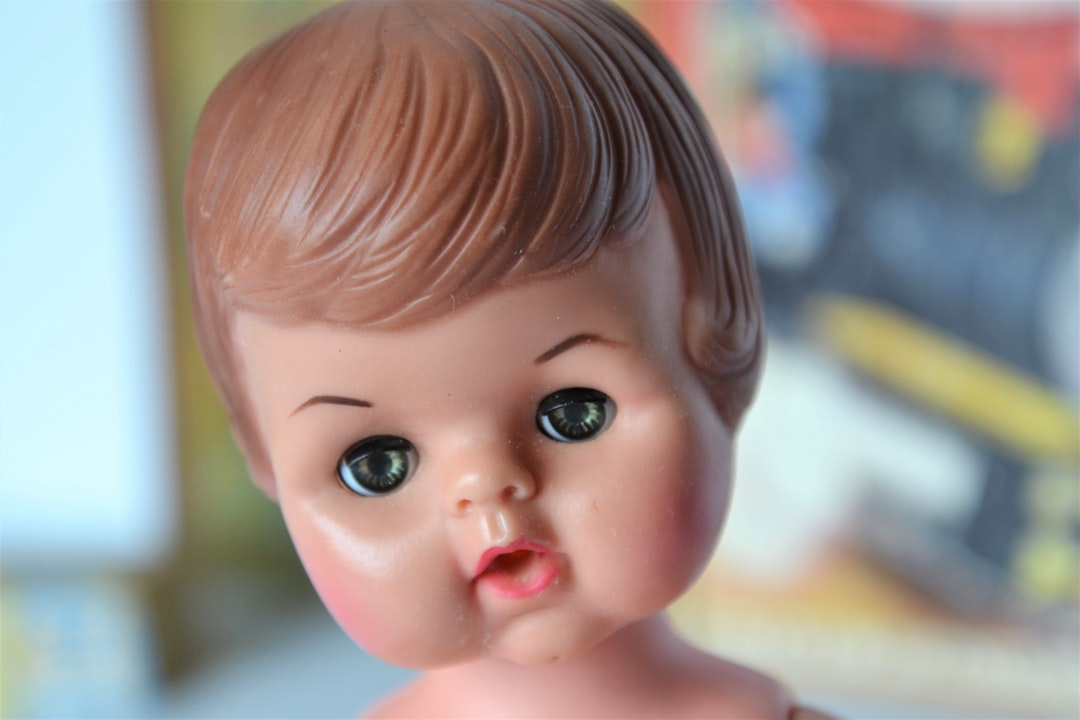 A throw-away baby doll from the 1960s. This little gal cleaned up so well, and look at those eyes!