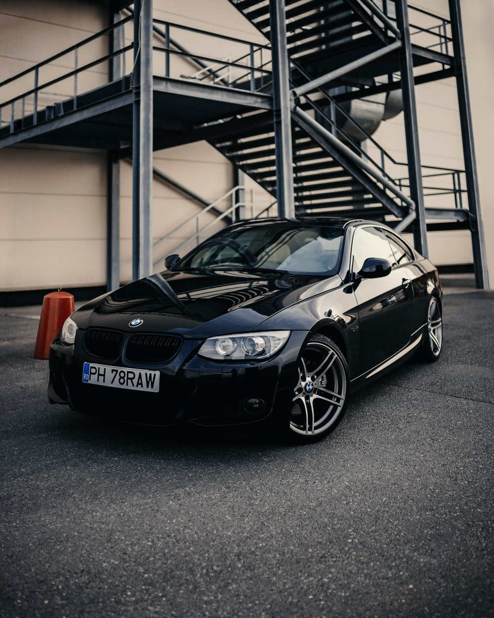 black bmw m 3 coupe parked in garage