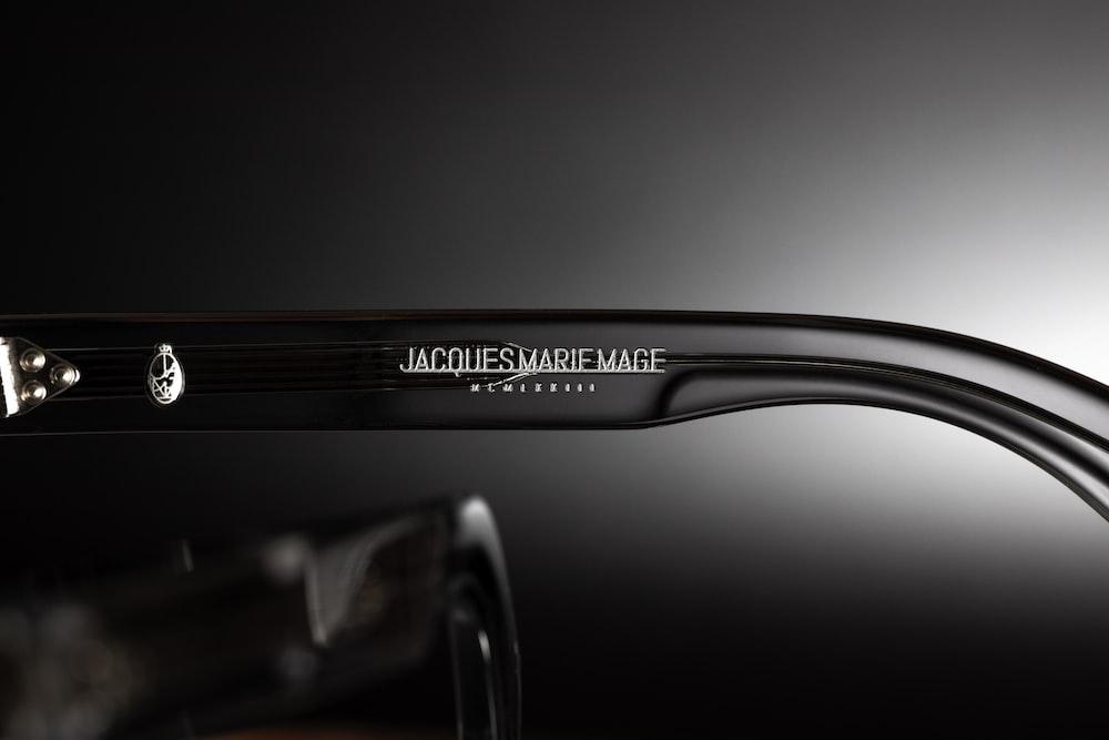 black and silver framed eyeglasses