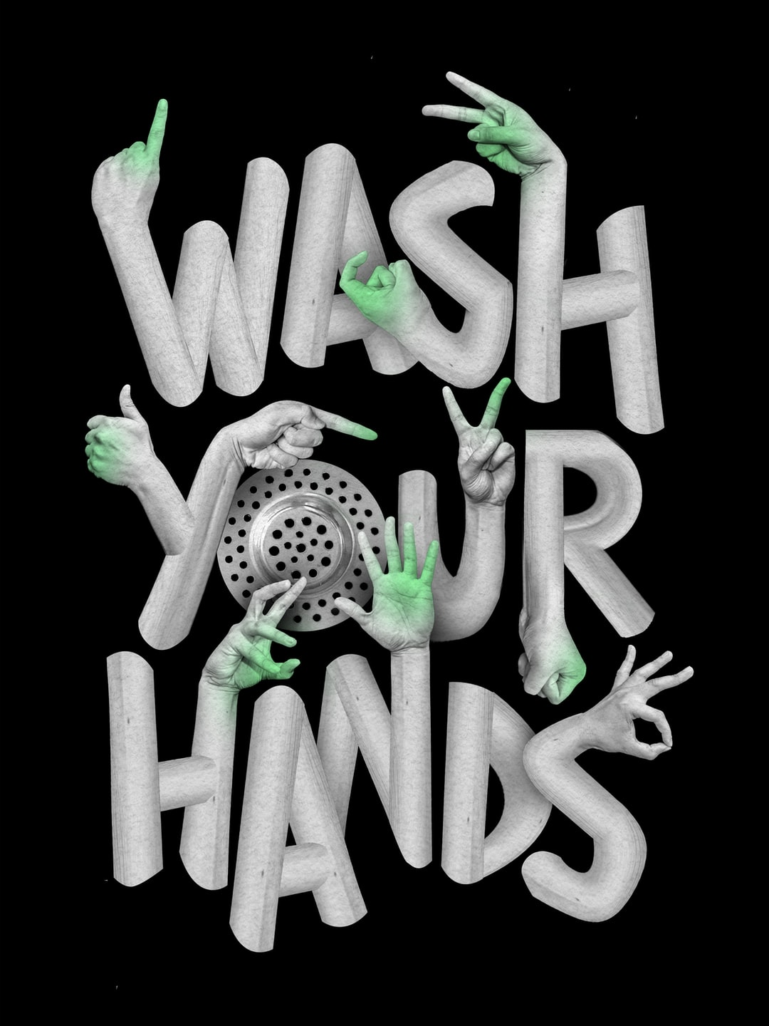 Wash your hands. Image created by Rok Mar. Submitted for United Nations Global Call Out To Creatives - help stop the spread of COVID-19.