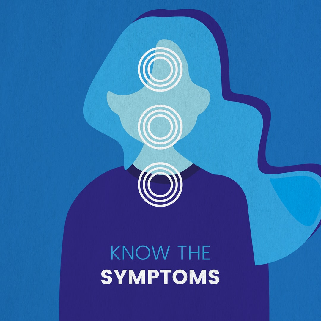 Know the symptoms. I wanted to create a simplistic and bold stand-out visual that would draw peoples attention to then want to read more about the important message. The three circles highlight the areas that the main symptoms occur, with a very direct message to clarify. Image created by So Fia. Submitted for United Nations Global Call Out To Creatives - help stop the spread of COVID-19.