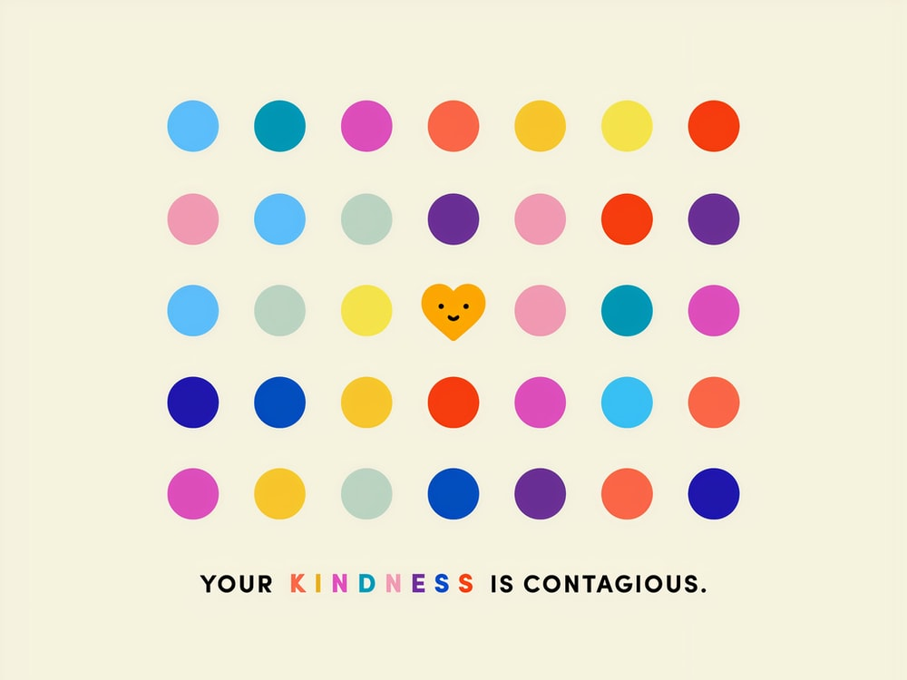 Kindness is contagious - Words  of Affirmation