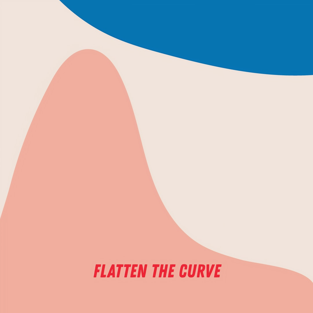 Flatten the curve.Image created by Lauren Mitchell. Submitted for United Nations Global Call Out To Creatives - help stop the spread of COVID-19.