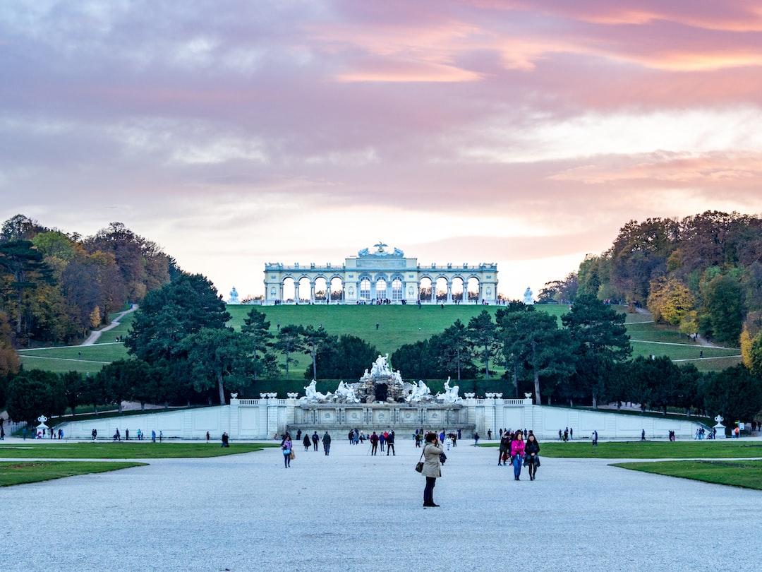 Schönbrunn Park and Palace in Vienna, Austria.