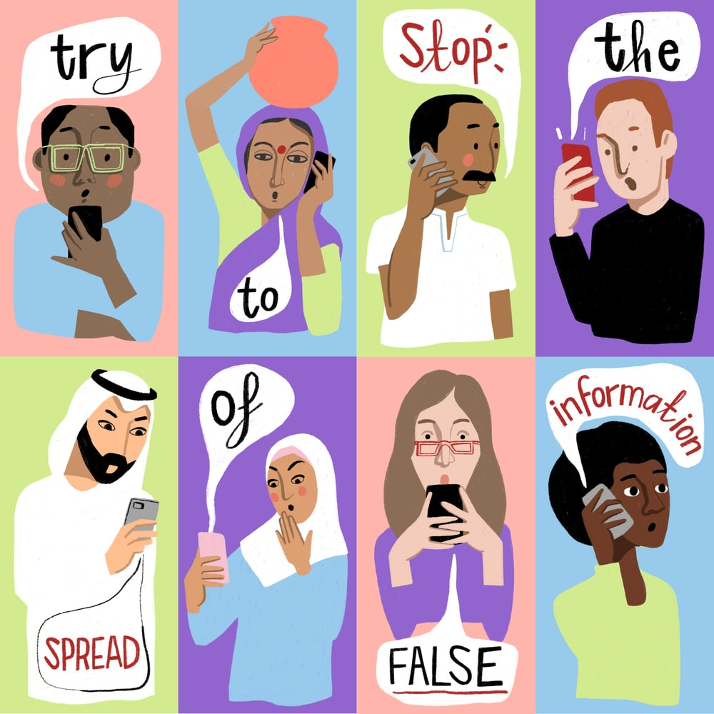 Try to stop the spread of false information tips for students during COVID-19