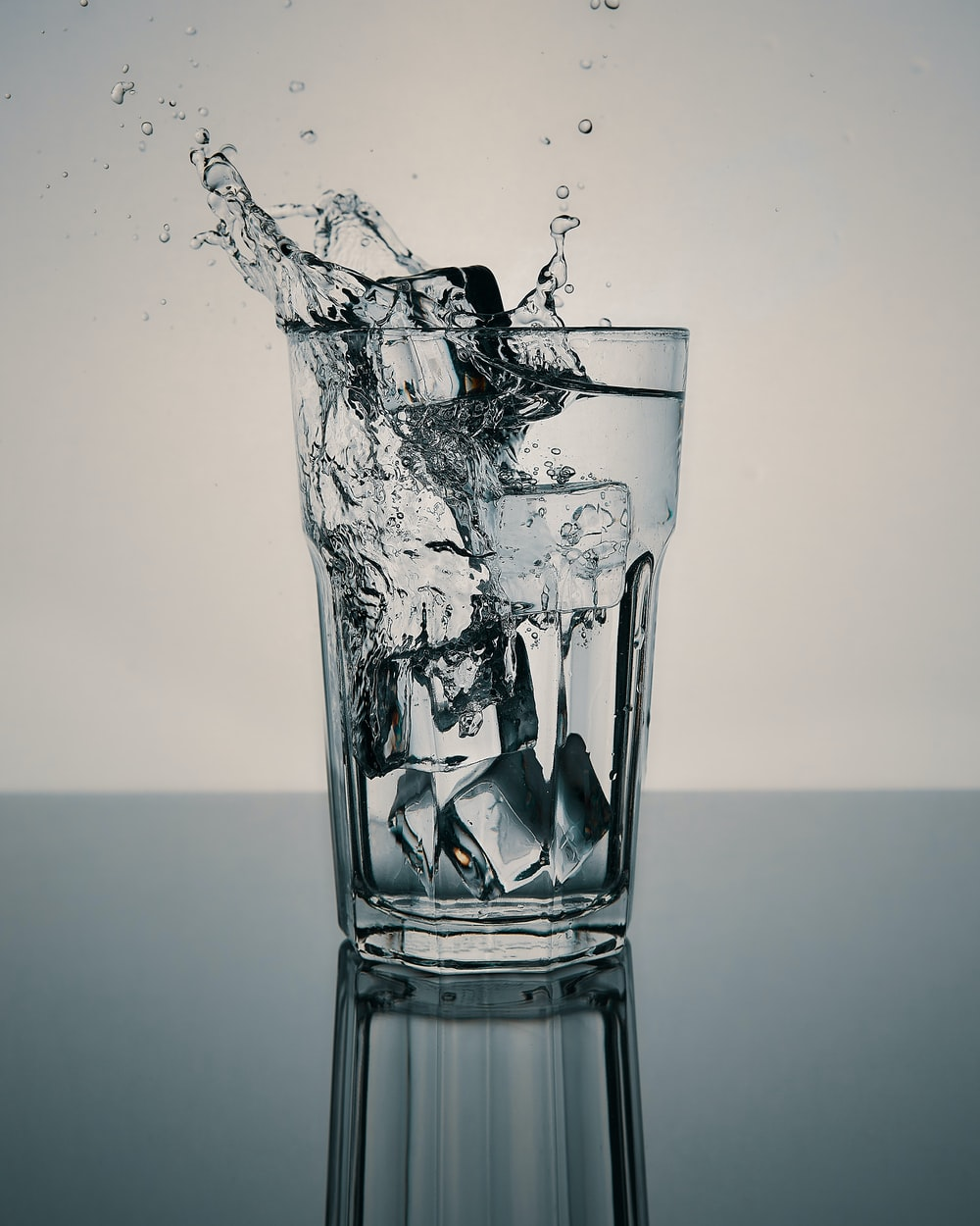 water in clear drinking glass