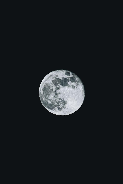 full moon on white background