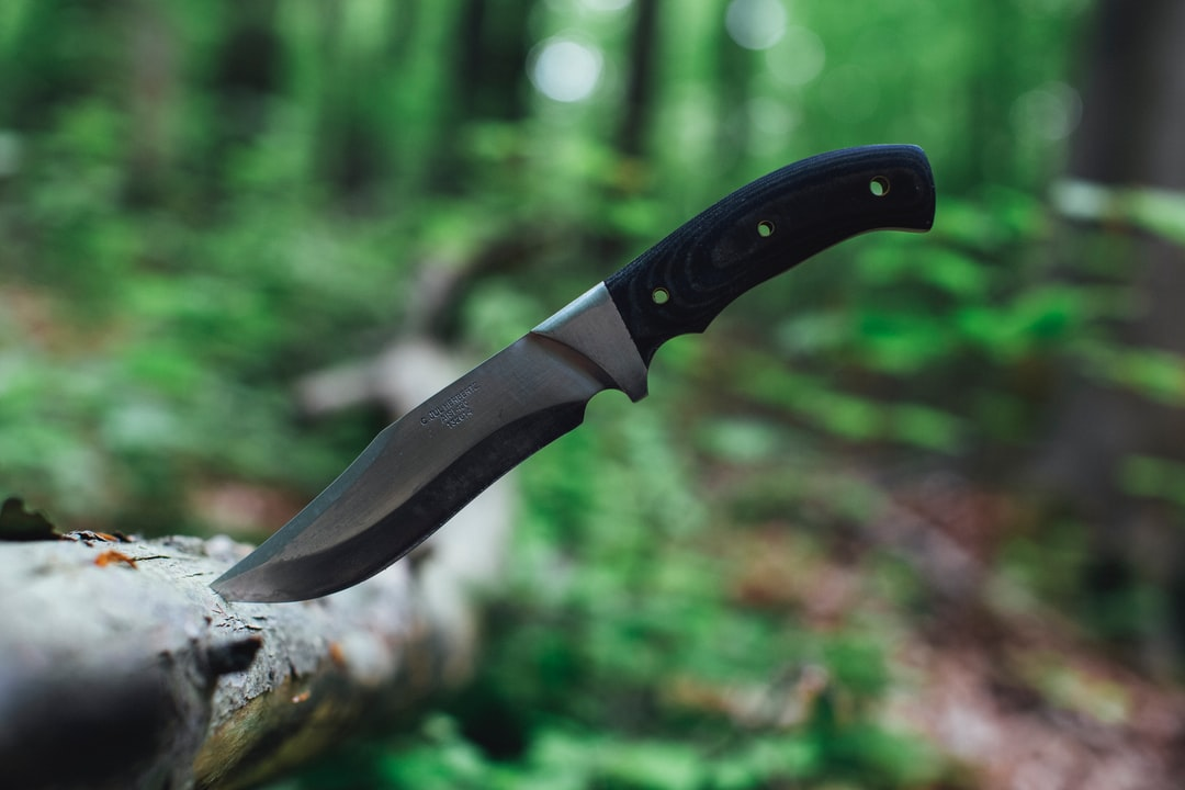 Outdoor equipment: survival knife