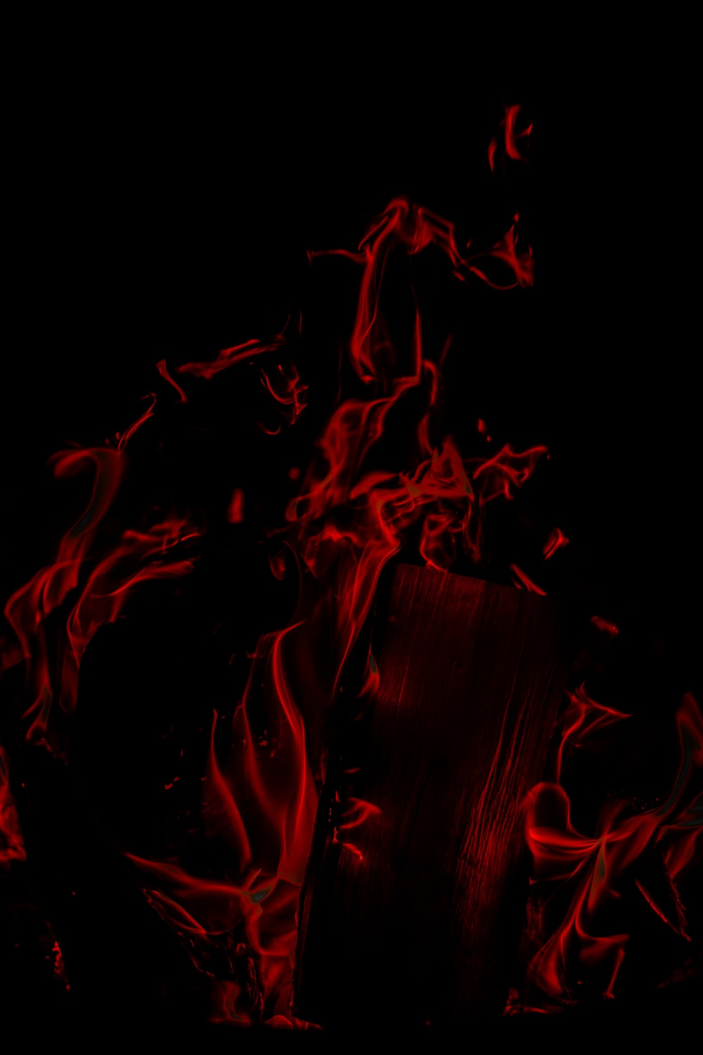 red and black fire digital wallpaper