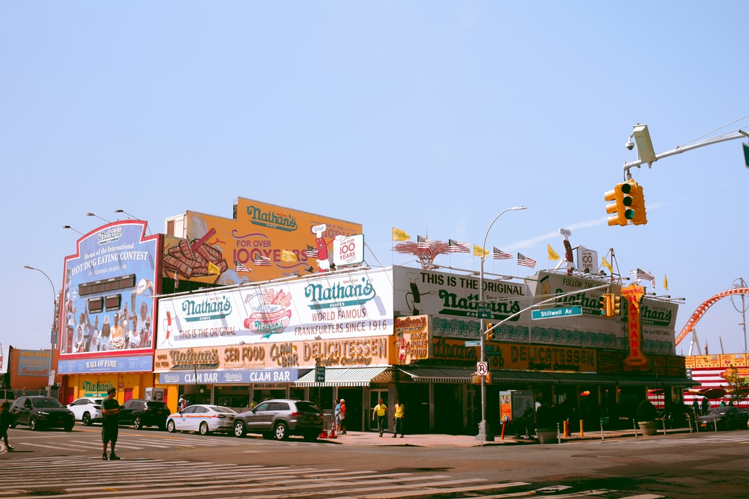 Nathan's famous in Coney Island