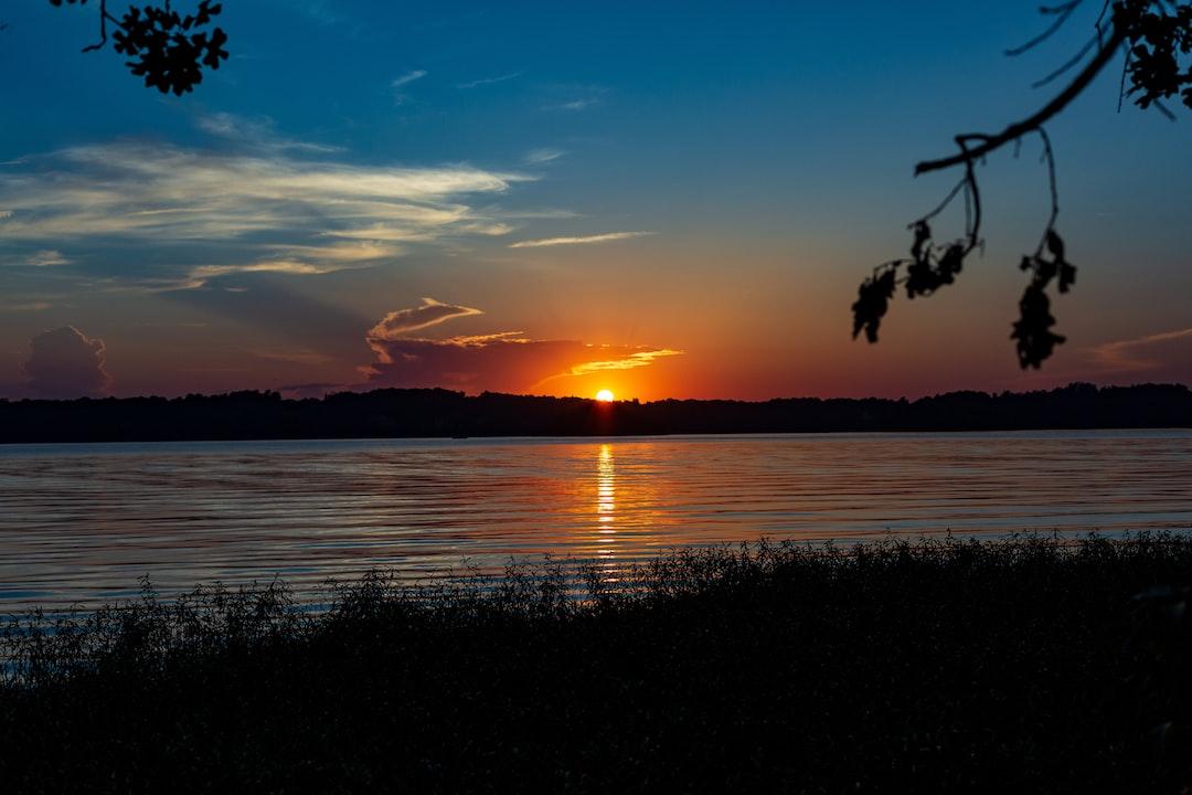 Sunset at Badin Lake, NC