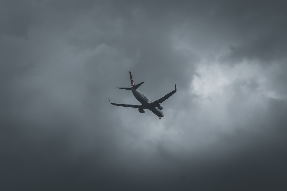 airplane flying in the sky during daytime