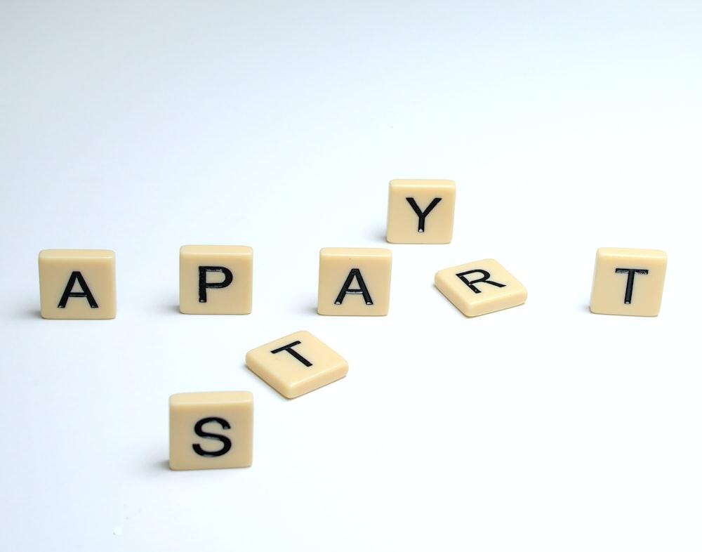 white and black letter letter letter letter blocks