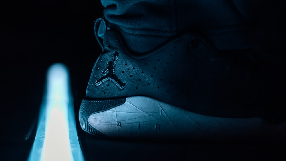 blue and black nike basketball shoes