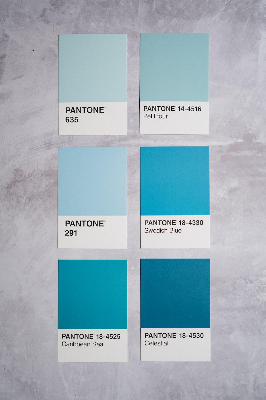 blue and white printer paper