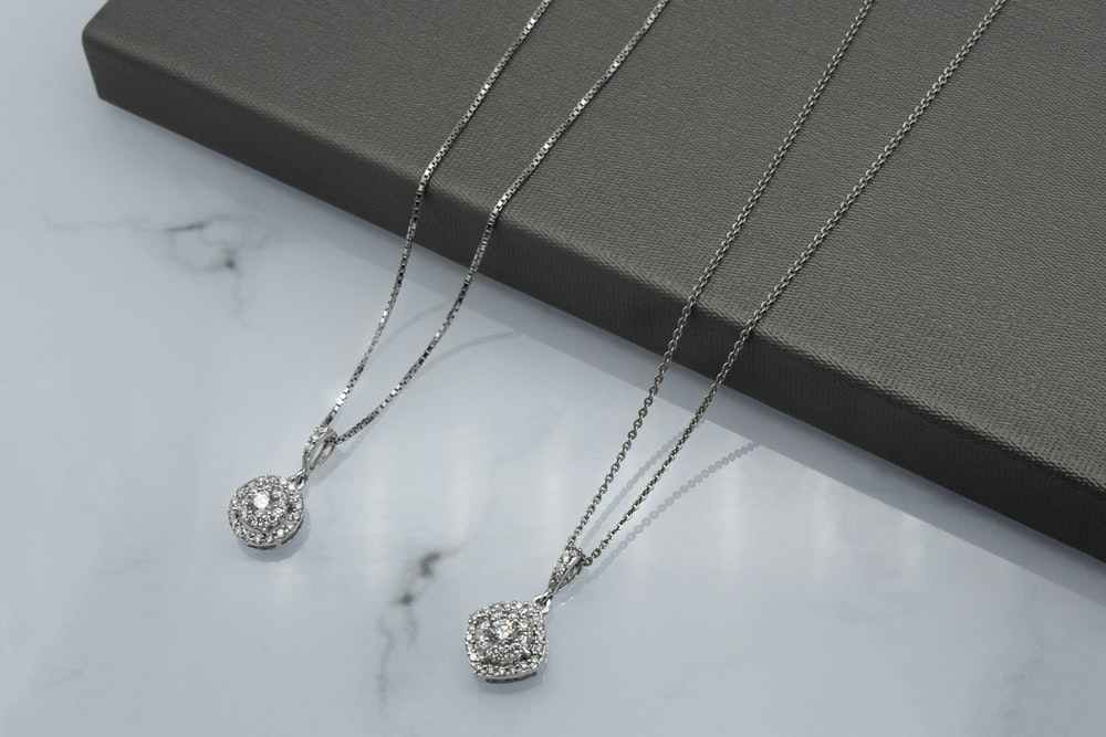 silver necklace with heart pendant