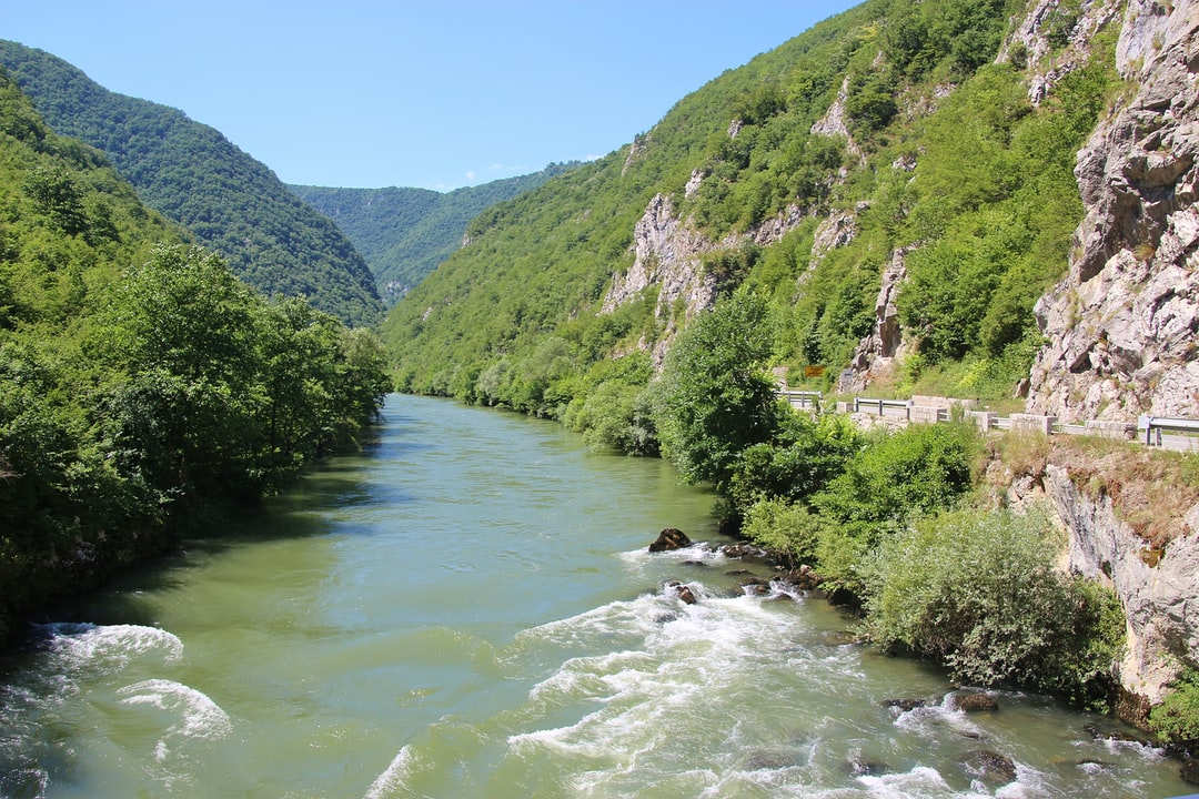 Magnificent gorge of the Tara river on the border named Hum between Bosnia and Herzegovina and Montenegro. Balkans, Southeast Europe.