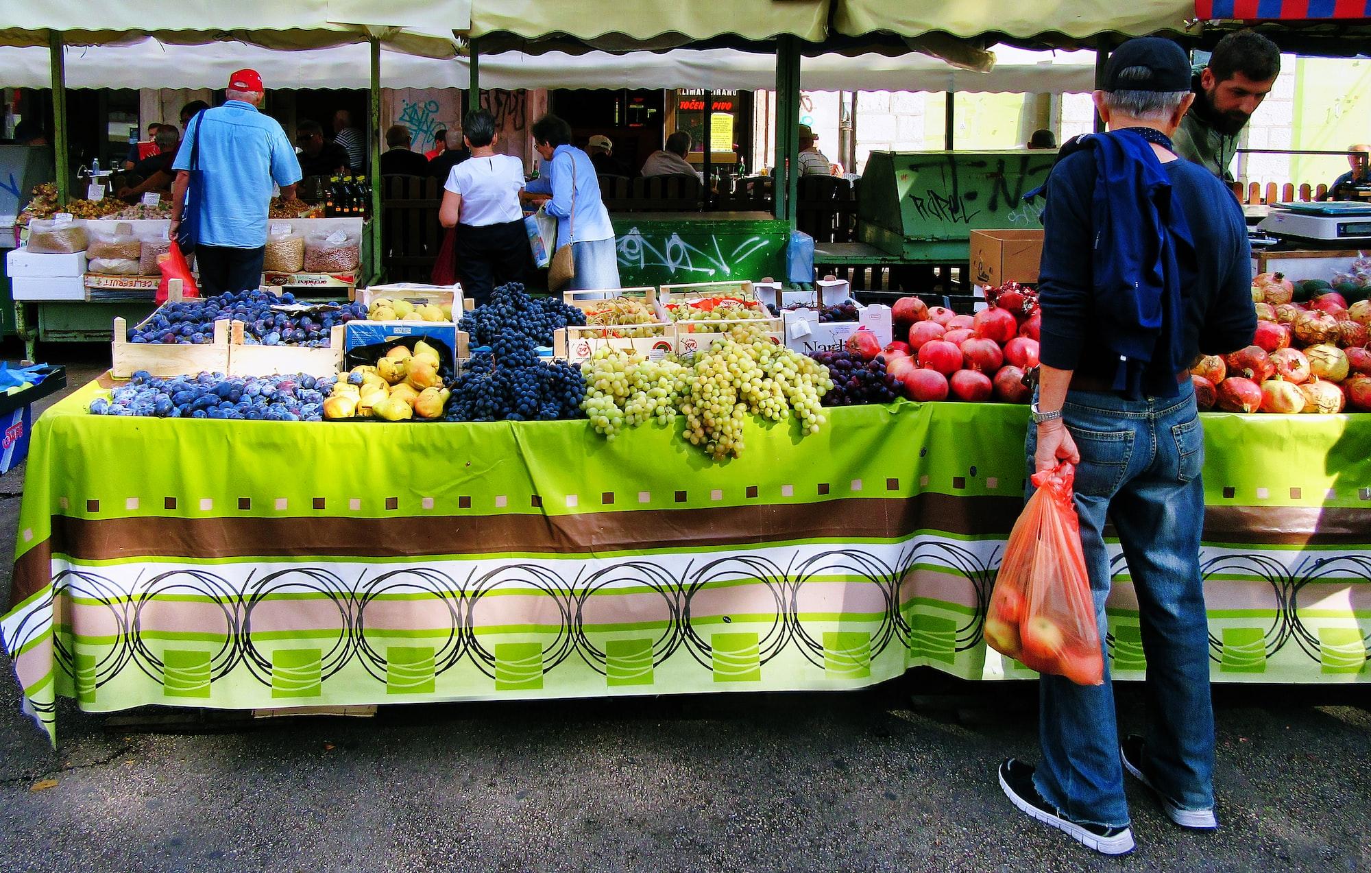 Fruit & Veg Market, Split, Croatia