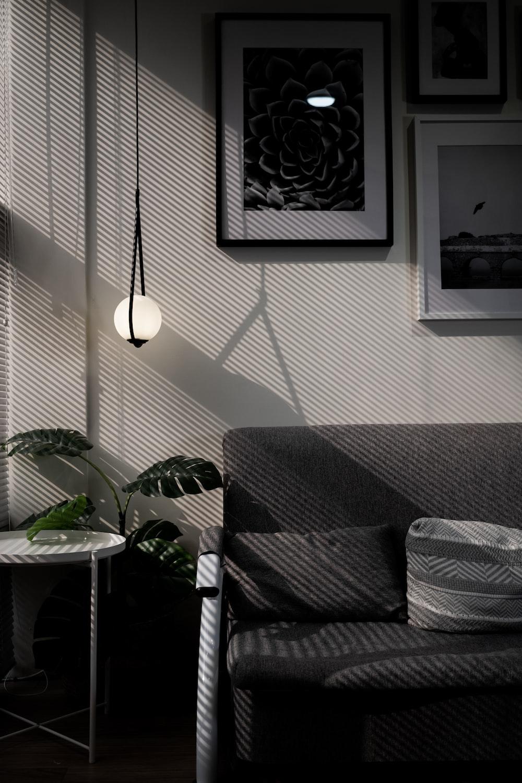 black and white 2 light floor lamp