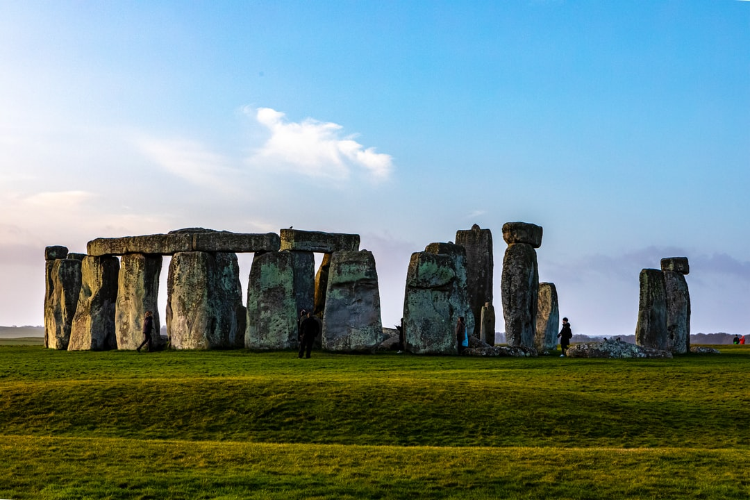 Prehistoric heritage and ritual site with huges stone monliths. February 2020. Wiltshire, Salisbury, England, UK.