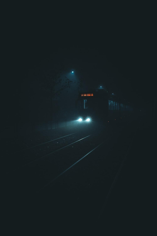 black and white train rail