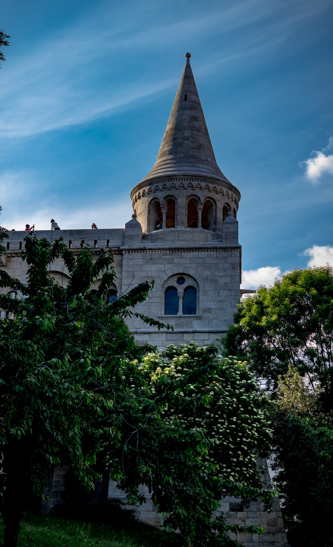 The Fishermans Bastion with a great silky sky.