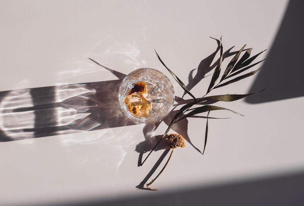 gold and black flower decor