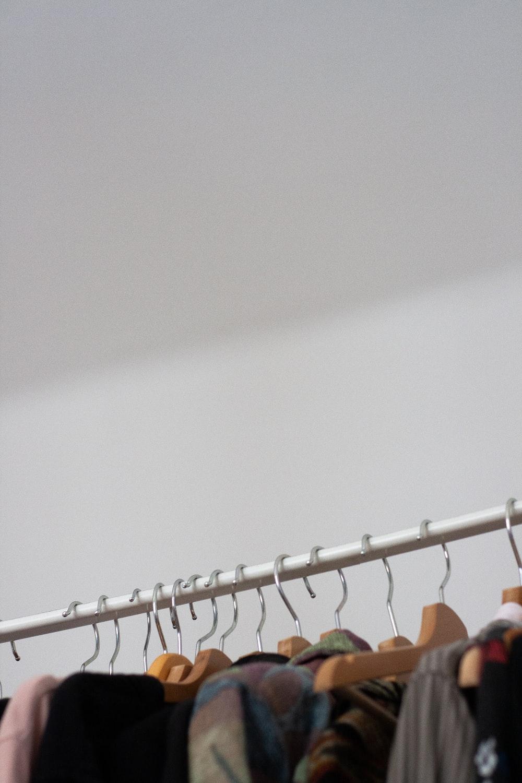 orange and white clothes hanger