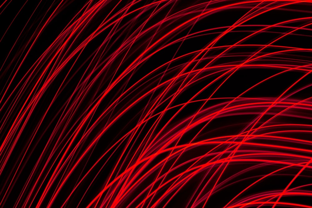 red and black lights on black background