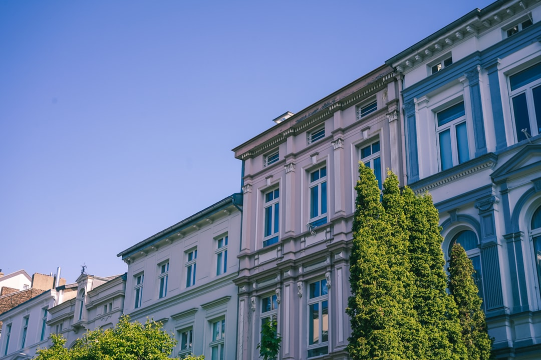Old Art Nouveau houses in Bonn.