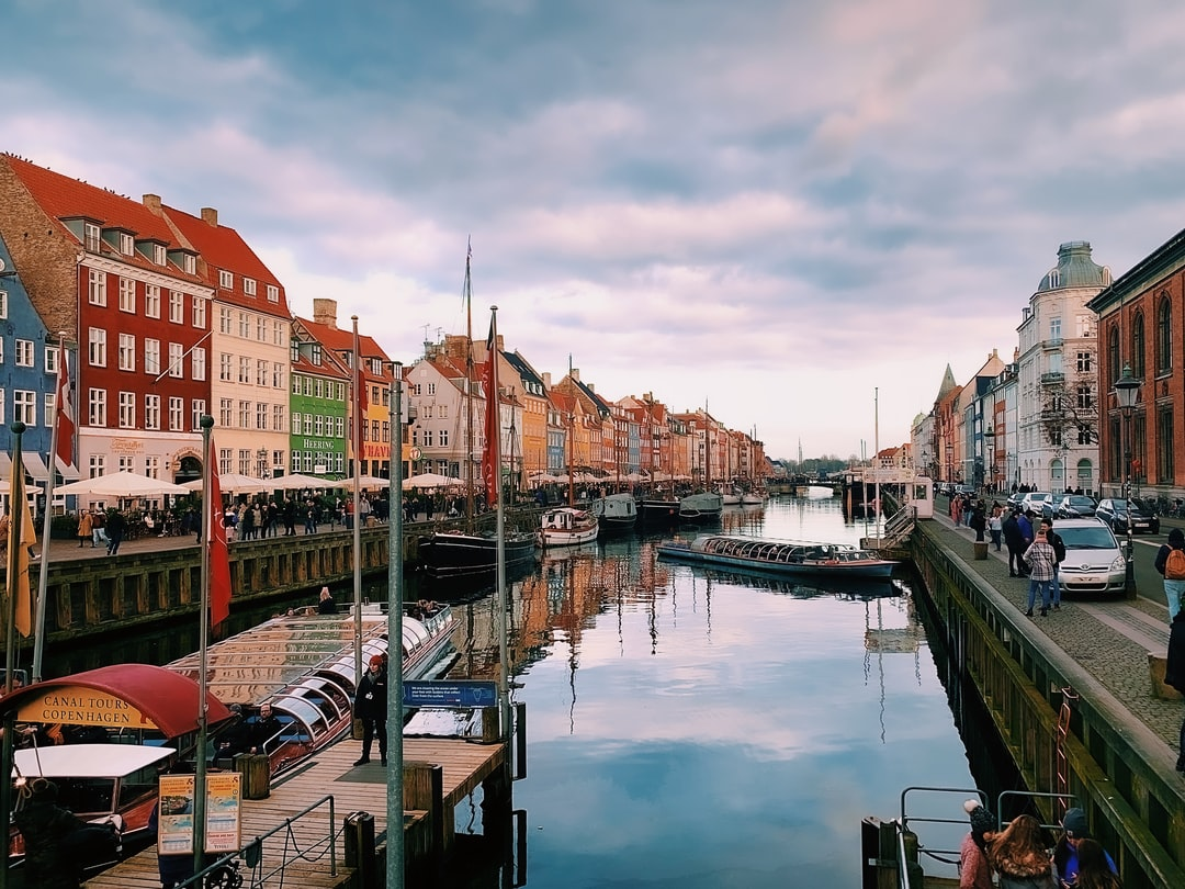 The old harbor and its colorful houses in Copenhagen. Taken with an iPhone.