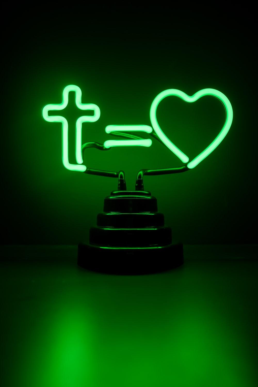 black cake with green light