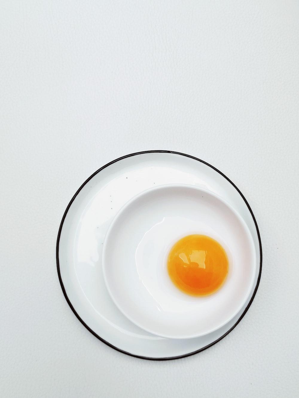 egg in white ceramic bowl