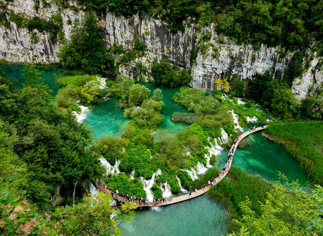 Plitvice Lakes National Park in Europe (Croatia)